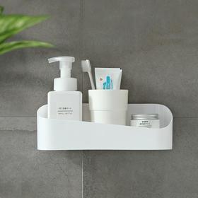 卫生间置物架收纳架几何黏贴厕所浴室架子免打孔洗澡间壁挂储物架-863947