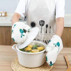 烤箱隔热手套防烫家用厨房用品耐高温加厚烘培手套微波炉专用手套-863623