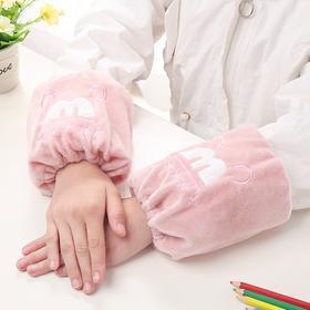 新款潮版防污儿童秋冬袖套卡通绒布短款宝宝套袖学生护袖-863619