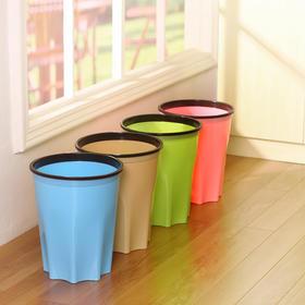 带压圈办公垃圾桶家用塑料无盖大号垃圾筒酒店卫生间时尚环保纸篓-863672