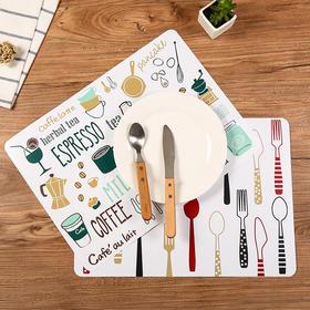 欧式防滑餐桌垫简约印花西餐垫家用塑料隔热垫碗垫防水耐热垫子-863582