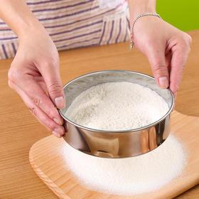 优质不锈钢面粉筛 40目15CM细网手持面粉筛圆形品质烘焙工具-863554
