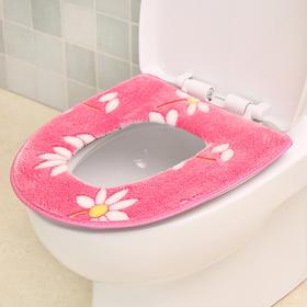 冬季加厚马桶垫法兰绒坐垫马桶套成人卫生间坐厕垫坐便器垫子-863961