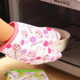 卡通隔热防烫微波炉手套厨房加厚耐高温防热烤箱专用五指烘焙手套-863601