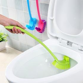 卫生间马桶刷 创意双面塑料多用无死角长柄洁厕刷清洁刷-863682