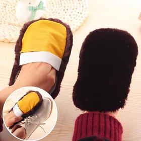 仿羊毛皮革抛光鞋刷 多功能抛光毛绒擦鞋布实用皮革刷-863656