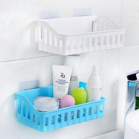 卫生间置物架免打孔厨房长方形无痕塑料吸盘壁挂厕所洗手间收纳架-863951