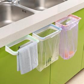 熊猫厨房可挂式垃圾架 橱柜门挂式多功能塑料袋垃圾袋架子-863519