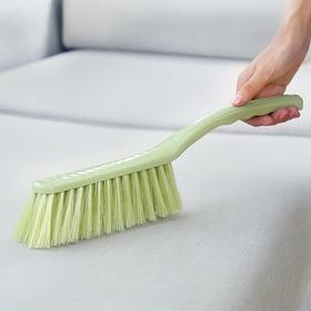 家务清洁长柄素色塑料床刷家庭防尘除皱整铺扫帚扫床单软毛清洁刷-863636