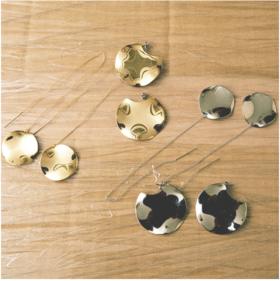 ucalypt 金属造型线型耳环