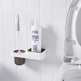 马桶刷无死角家用清洁去污二合一卫生间马桶刷子收纳架厕刷坐便刷-863693