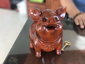 """""""辈辈福""""红木猪储蓄罐、红木梳妆箱"""