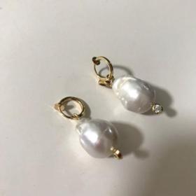 ucalypt 巴洛克珍珠耳环