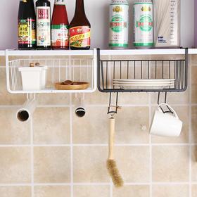 橱柜置物架厨房铁艺多层整理收纳架免打孔衣柜收纳分层隔层储物-863482