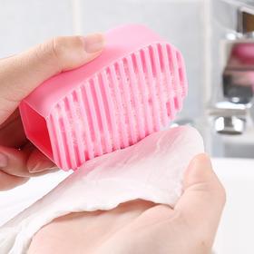 多功能加厚硅胶洗衣刷 手握式迷你洗衣板衣物清洁刷小号搓衣板-863712