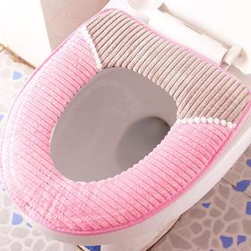 马桶垫 冬季家用防水坐便套马桶套加厚灯芯绒保暖马桶圈u座套-863972