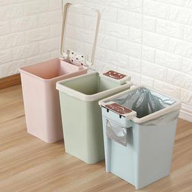 方形带垃圾袋盒无盖垃圾桶家用卧室客厅欧式卫生间塑料纸篓垃圾篓-863669