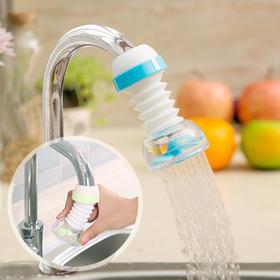 家用厨房水龙头防溅头嘴加长延伸器过滤器可旋转水龙头花洒节水器-863557