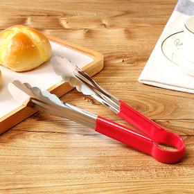 9寸不锈钢食物夹 揭阳烧烤夹厨房防滑自助餐牛排夹-863546