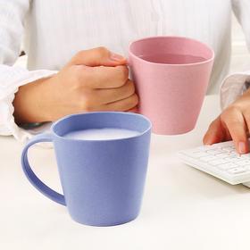 小麦秆简约水杯茶杯 创意学生牛奶杯大容量杯子加厚情侣杯咖啡杯-863932