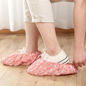 可反复洗室内鞋套脚套家用成人布料防滑耐磨透气加厚学生机房脚套-863499