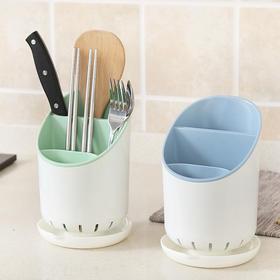 塑料筷子筒 家用多功能筷子架筷子笼厨房分格筷子托置物架-863558
