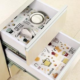 印花橱柜垫纸抽屉垫纸加厚防水防潮厨房贴纸家用衣柜垫鞋柜垫子-863576