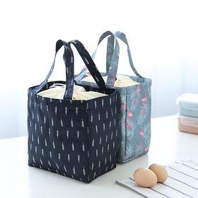 饭盒包便当包手提布包潮版多功能火烈鸟防水午餐包带饭包保温饭袋-863572