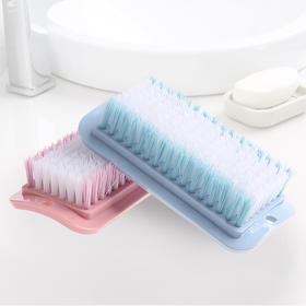 家用多功能清洁鞋刷子方形软毛衣服刷板刷塑料大号衣领刷子洗衣刷-863654