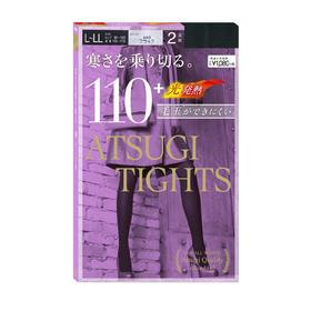 【保税区发货】 日本ATSUGI厚木 110D天鹅绒发热连裤袜丝袜L-LL 2双装
