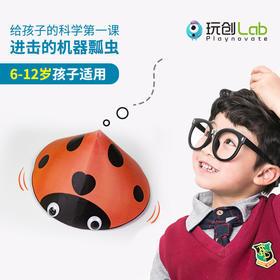 【亲友专享】玩创Lab 硅谷在线科学课「瓢虫刷碗机」含(50分钟清北名师直播课+动手实验科学魔盒)