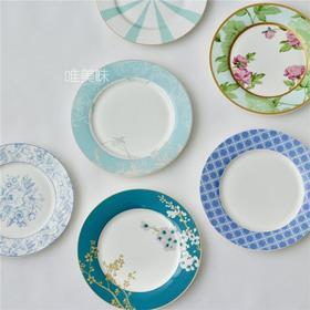 新骨瓷 古典英伦风 彩绘植物花卉 甜品盘 蜜饯盘 瓜子盘 装饰盘 下午茶 茶歇 满包邮