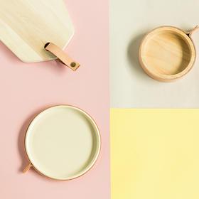 纳谷 | Firm 本来PU皮扣置物系列陶瓷托盘