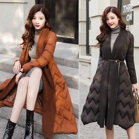 棉衣中长款长袖直筒韩版休闲修身时尚潮流舒适保暖 CQ-SYY9930