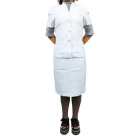 美容师服 套装 白色