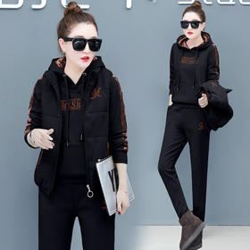 舒适时尚双面绒套装卫衣+长裤宽松运动休闲 CQ-XKZ1158