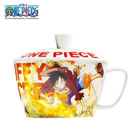 腾讯动漫官方 航海王ONE PECIE泡面杯海贼王 21cm*18cm 带盖陶瓷带把有盖防烫