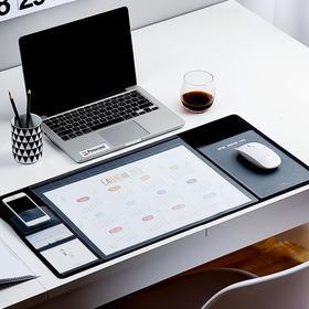 【为思礼】多功能韩版桌垫 大鼠标垫 优质人造皮革 防滑防水柔软耐磨 舒适手感