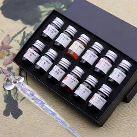 古风24节气金粉彩墨手工墨水7ML 中国风钢笔毛笔蘸水笔 复古礼盒