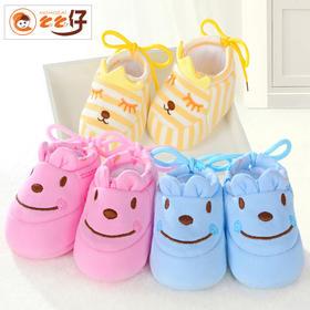 ※绣花薄款棉鞋 0-6个月婴儿棉鞋