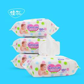 婴儿成人抽取式清洁湿纸巾100抽
