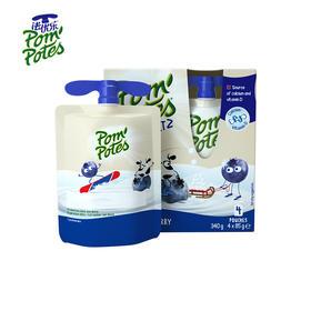 Pom Potes法优乐风味酸奶85g/袋 4袋*4盒(下单即送果泥一盒,数量有限送完为止)