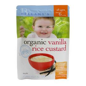 澳大利亚Bellamy's贝拉米香草味有机米粉125g(6个月以上)