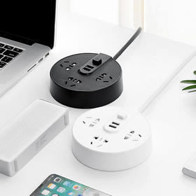 创意插线板USB快充自带指示灯送小夜灯(小夜灯颜色随机)