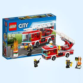 LEGO乐高 玩具 城市组 City 5岁-12岁 云梯消防车 60107 积木LEGO