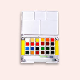 秀普固体水彩颜料盒装套装