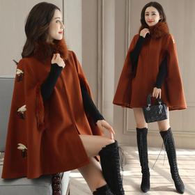 毛呢外套舒适优雅气质修身显瘦斗篷型韩版加绒 CS-YJLY7099