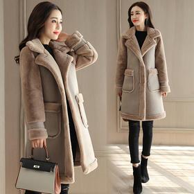 短款长袖西装领2018年冬季修身中长款纯色毛呢外套 CQ-HHSJ7186