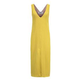 Greta Boldini  黄绿色V领连衣裙