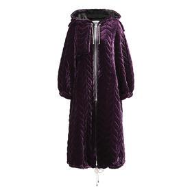 Greta Boldini  丝绒长款加厚外套